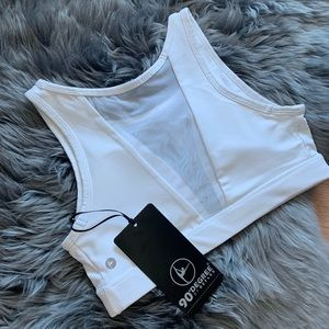 90 Degree By Reflex Intimates & Sleepwear - sexy 90 degree white  mesh sports bra size m